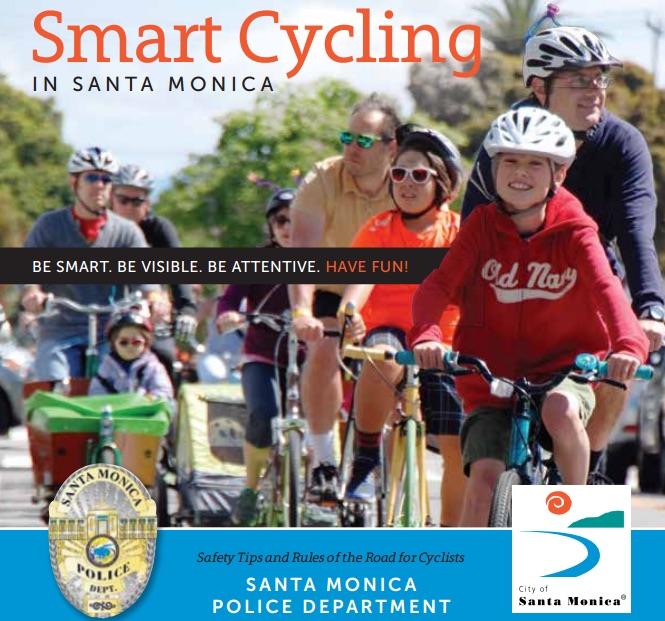 smart cycling in santa monica poster
