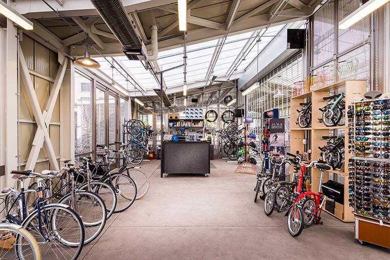 the inside of the bike center