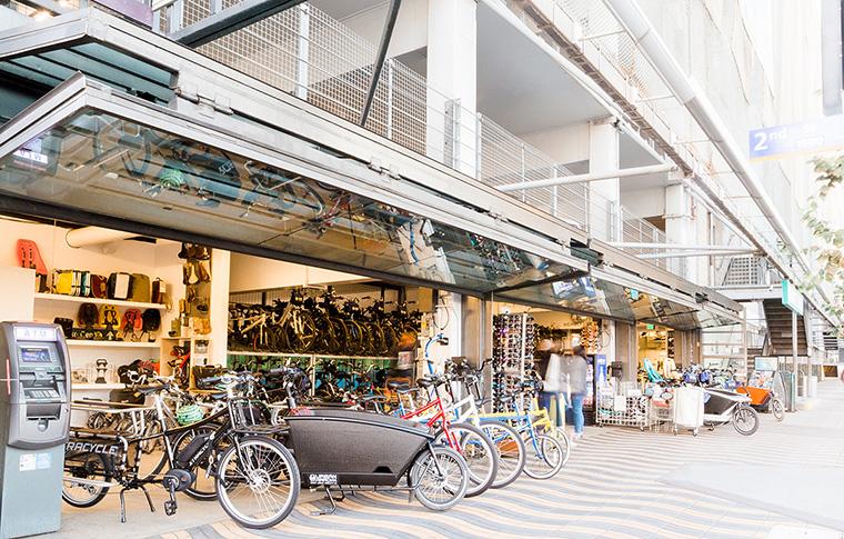 the bike center rental station