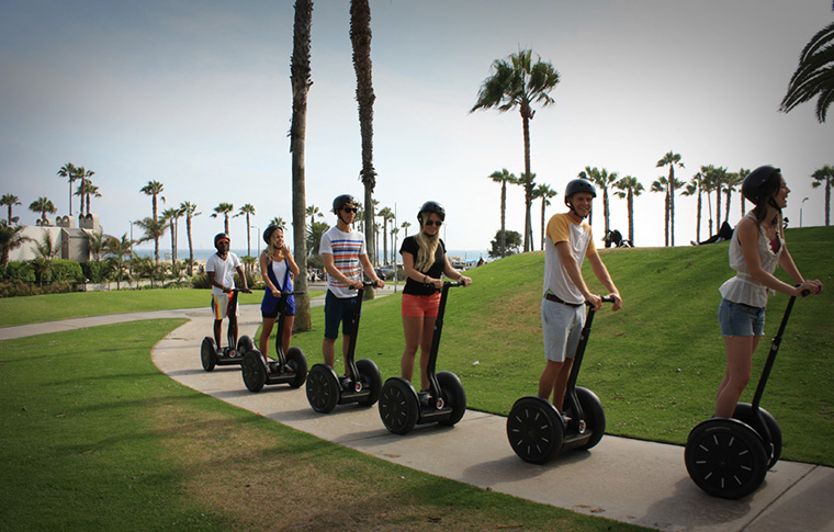 segway tour going through santa monica
